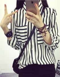 online store 304f1 c1638 Camicia righe bianco nera