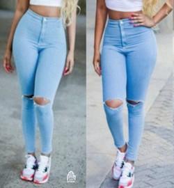 637764d45d Skinny jeans strap light denim